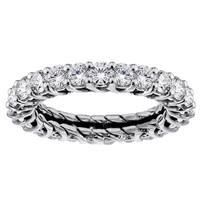 14k White Gold 2 - 2 1/4ct TDW Diamond Eternity Wedding Band