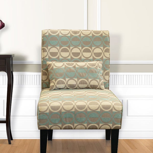 Bella turq accent chair free shipping today overstock for Bella flora chaise lounge