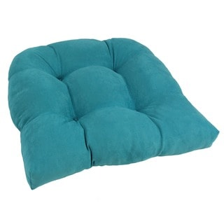 Blazing Needles Tropical 19-inch U-shaped Tufted Microsuede Chair Cushion