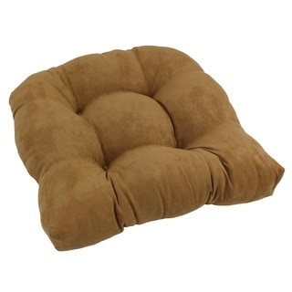 Blazing Needles Tropical 19-inch U-shaped Tufted Microsuede Chair Cushion - 19 x 19