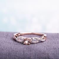 Miadora Roseplated Silver Morganite and 1/10ct TDW Diamond Ring (G-H, I2-I3)