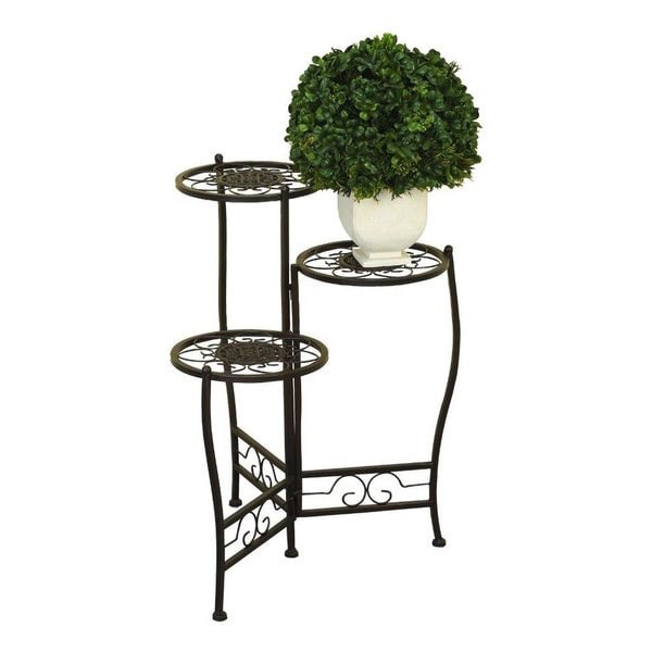 Metal Tiered Plant Stand Free Shipping Today Overstock