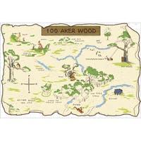 Disney's Winnie the Pooh 100 Aker Wood Peel & Stick Map