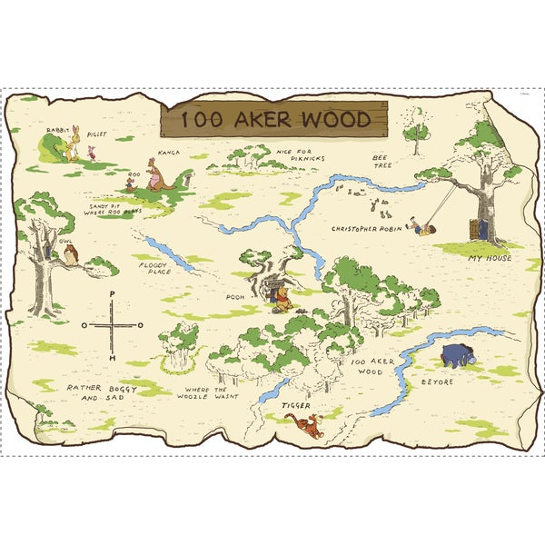 Shop Disney S Winnie The Pooh 100 Aker Wood Peel Amp Stick