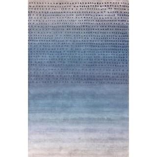 nuLOOM Handmade Ombre Blue Wool Rug (5' x 8')