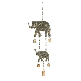 Metal Elephants Wind Chime