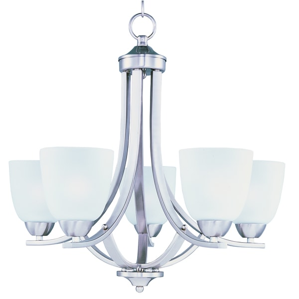 Maxim Axis 5-light Brushed Nickel Chandelier