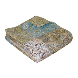 Greenland Home Fashions Vintage Paisley Patchwork Quilted Throw