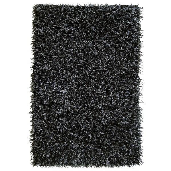Jovi Home Safari Black/ White Shaggy Rug (4' x 6')