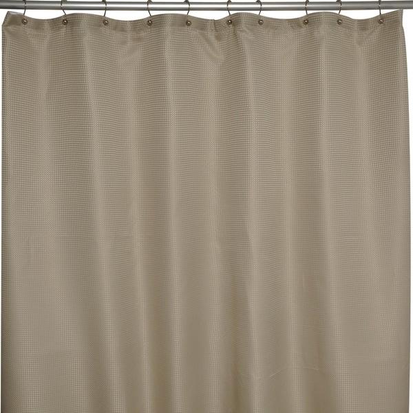 Soho Waffle Taupe Shower Curtain