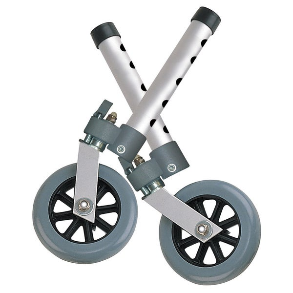 Drive Medical Swivel Lock 5-inch Walker Wheels (Set of 2)