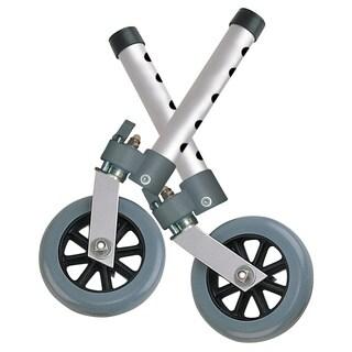 Drive Medical Swivel Lock 5-inch Walker Wheels (Set of 2)