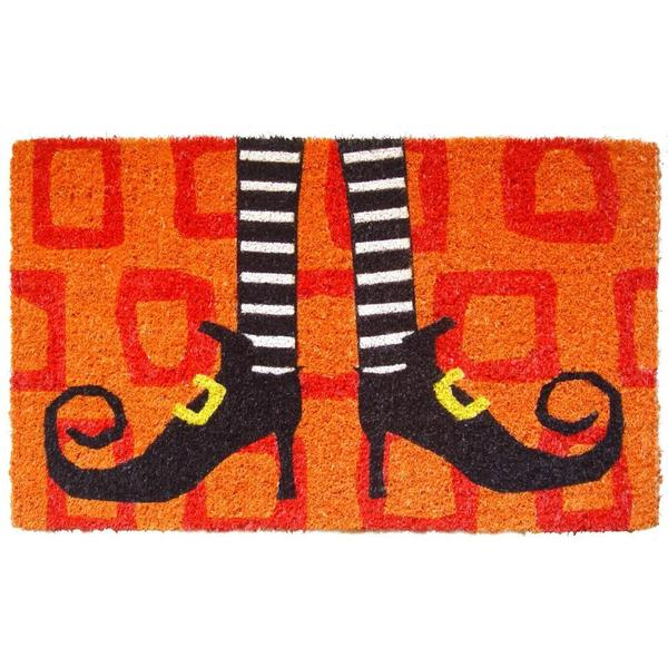 Wicked Witch Shoes Hand-woven Coconut Fiber Doormat - Wicked Witch Shoes Hand-woven Coconut Fiber Doormat - Free