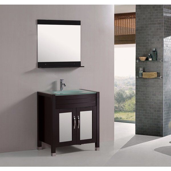 Kokols tempered glass top 30 inch single sink bathroom - 30 inch single sink bathroom vanity ...