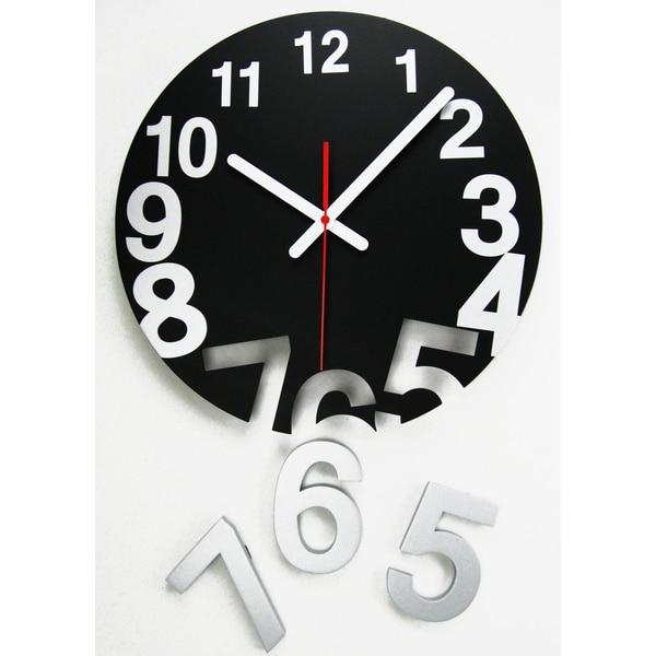 Novelty Number Gravity Pop Off Wood Clock
