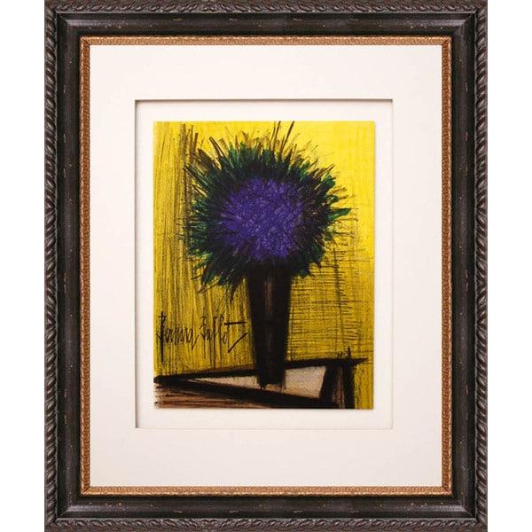 Shop Bernard Buffet 'The Purple Bouquet of Flowers ...