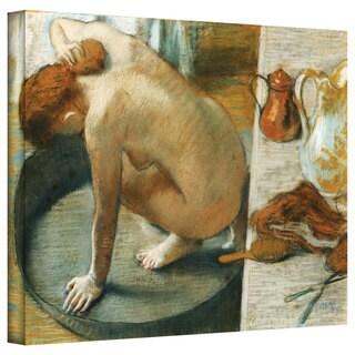 Edgar Degas 'The Tub' Gallery-Wrapped Canvas Art