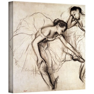Edgar Degas 'Two Dancers Resting' Gallery-Wrapped Canvas Art