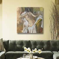 Edgar Degas 'Woman Drying Herself' Gallery-Wrapped Canvas Art