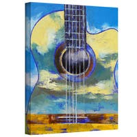 Michael Creese 'Guitar and Clouds' Gallery-Wrapped Canvas Art - Multi