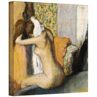 Edgar Degas 'After the Bath, Woman Drying Her Neck' Gallery-Wrapped Canvas Art
