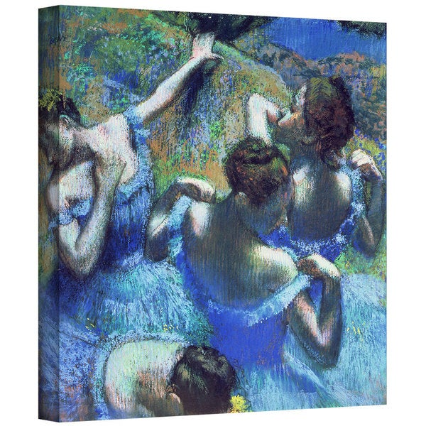Art Wall Edgar Degas 'Blue Dancers' Gallery-Wrapped Canvas