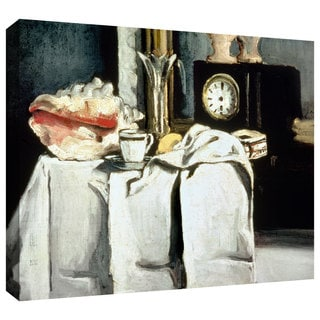 Paul Cezanne 'The Black Marble Clock' Gallery-Wrapped Canvas Art