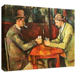 Paul Cezanne 'The Card Players' Gallery-Wrapped Canvas Art
