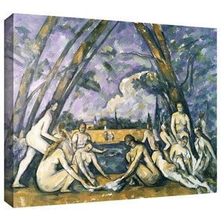 Paul Cezanne 'The Large Bathers' Gallery-Wrapped Canvas Art