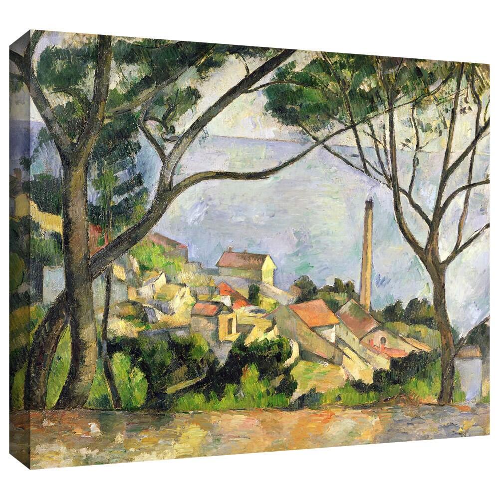 Paul Cezanne 'The Sea at l'Estaque' Gallery-Wrapped Canvas ...
