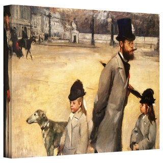 Edgar Degas 'Place de la Concorde' Gallery-Wrapped Canvas Art