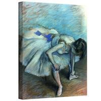 Edgar Degas 'Seated Dancer' Gallery-Wrapped Canvas Art