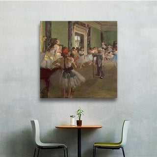 Edgar Degas 'The Dancing Class' Gallery-Wrapped Canvas Art