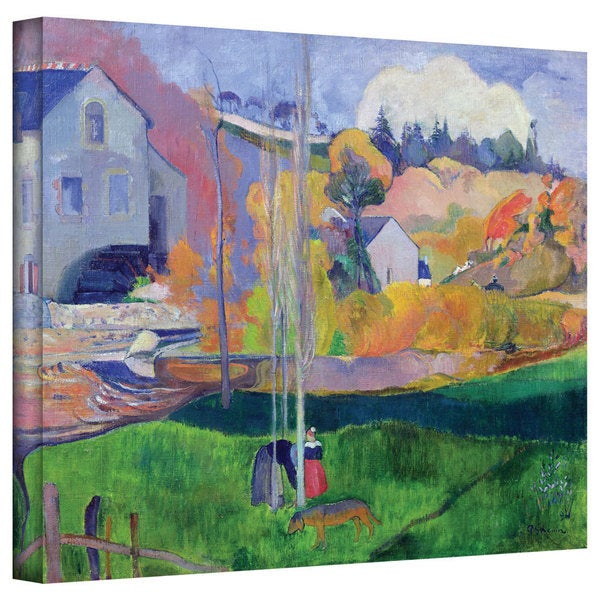 Paul Gauguin 'Brittany Landscape, the David Mill' Gallery-Wrapped Canvas Art. Opens flyout.