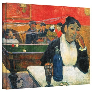 Paul Gauguin 'Café at Arles' Gallery-Wrapped Canvas Art