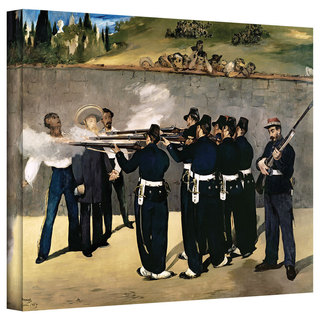 Art Wall Edouard Manet 'The Execution of Emperor Maximilian' Gallery-wrapped Canvas