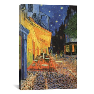 iCanvas Vincent Van Gogh 'The Cafe Terrace on The Place Du Forum, Arles, At Night 1888' Canvas Print Wall Art