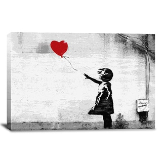 iCanvas Banksy 'Girl With A Balloon' Canvas Print Wall Art