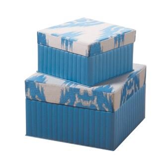Ikat Square Box (Set of 2)