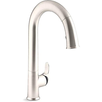 Kohler Sensate Ac Powered Touchless Vibrant Stainless With Black Accents Kitchen Faucet Free