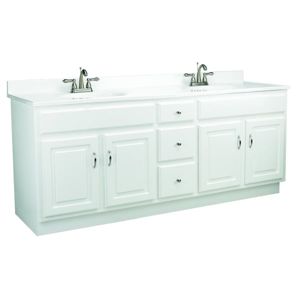 Shop Design House Concord White Gloss Vanity Cabinet Free Shipping