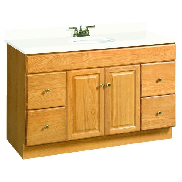design house 39 claremont 39 honey oak vanity cabinet free shipping