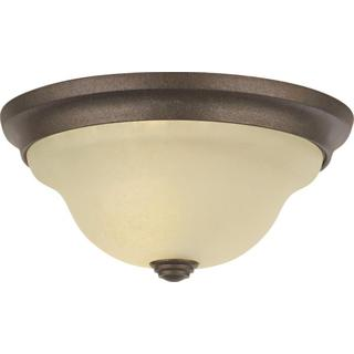HS Basic Coordinates Corinthian Bronze 1-light Indoor Flush Mount