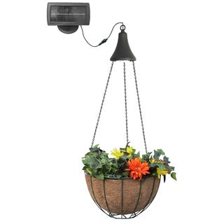 Hanging Solar Light with Hanging Basket