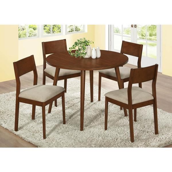 Modern Oak Veneer 42-inch Dining Table