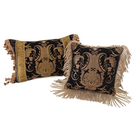 PCHF China Art Black Luxury Pillows (Set of 2)