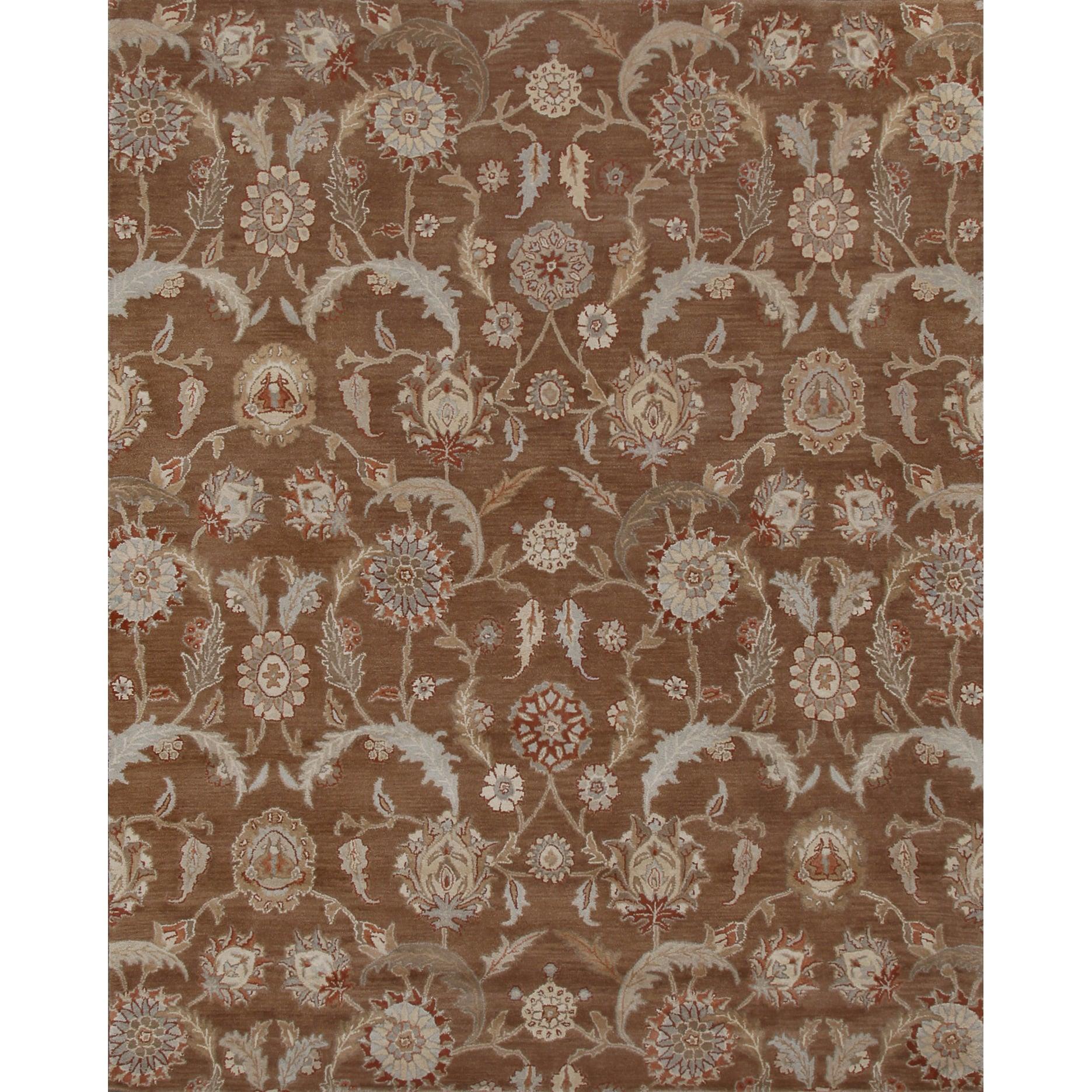 Handmade Kera Transitional Brown Rug (8' x 10') (Brown), ...
