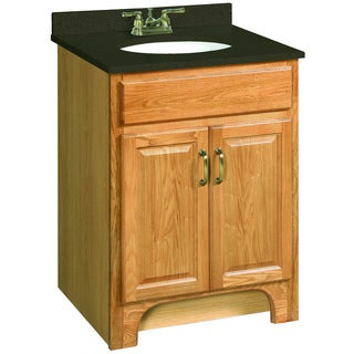 Design House 530386 Richland Nutmeg Oak Vanity Cabinet with 2-Doors, 24 x 21 inches