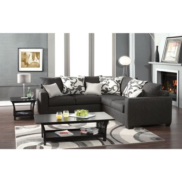 Sectional Gray Sofa Set: Shop Cranbrook Sectional Sofa Set With Accent Pillows