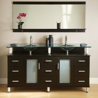 Kokols Double Tempered Glass Top Vanity